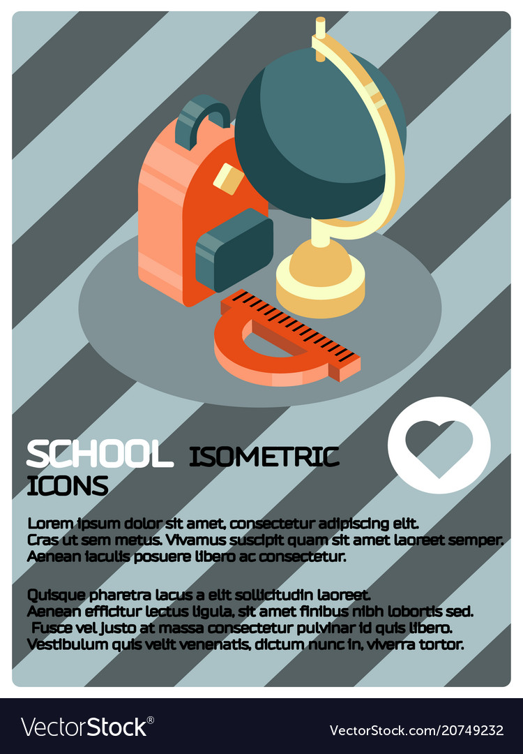 School color isometric poster
