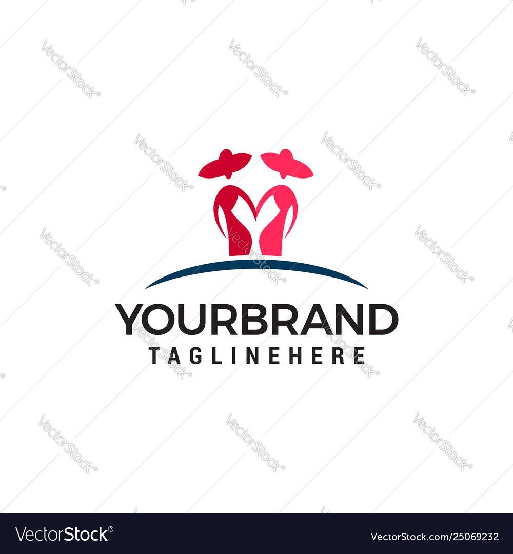 Two woman logo design concept template