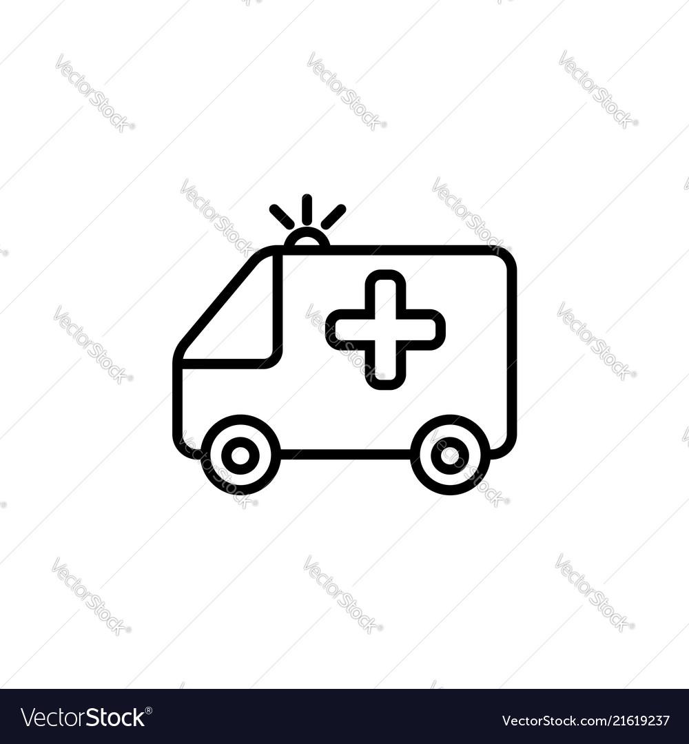 Ambulance icon black on white