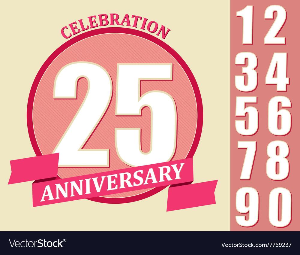 Anniversary Design set Template celebration sign
