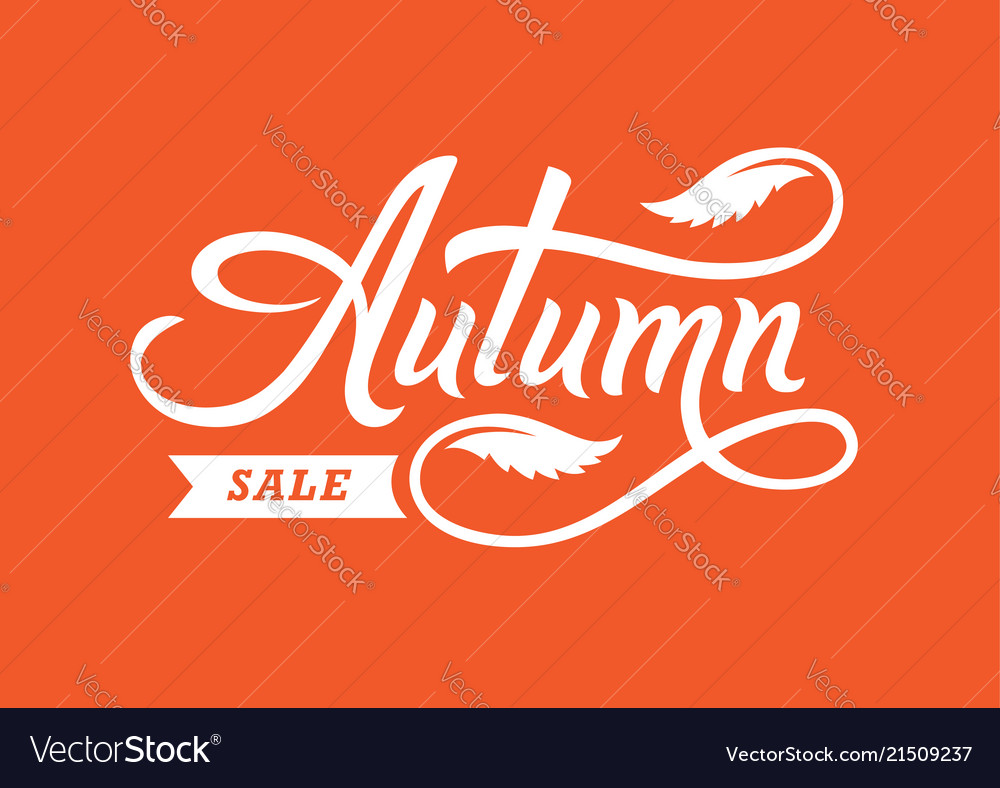 Autumn sale hand drawn lettering