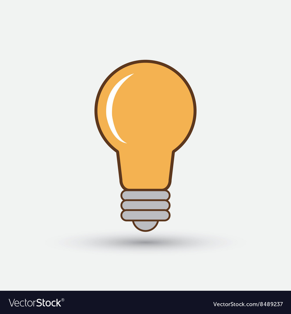 Colorful bulb design over white background