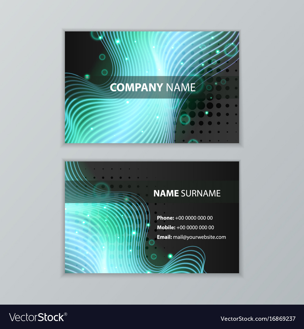 Dark modern business card design template vector image friedricerecipe Gallery