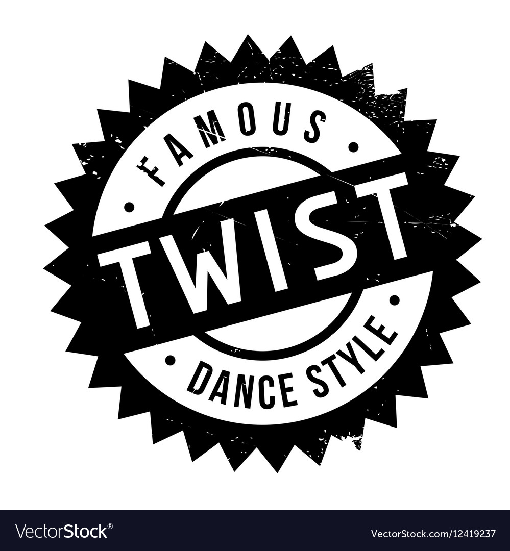 Famous dance style Twist stamp