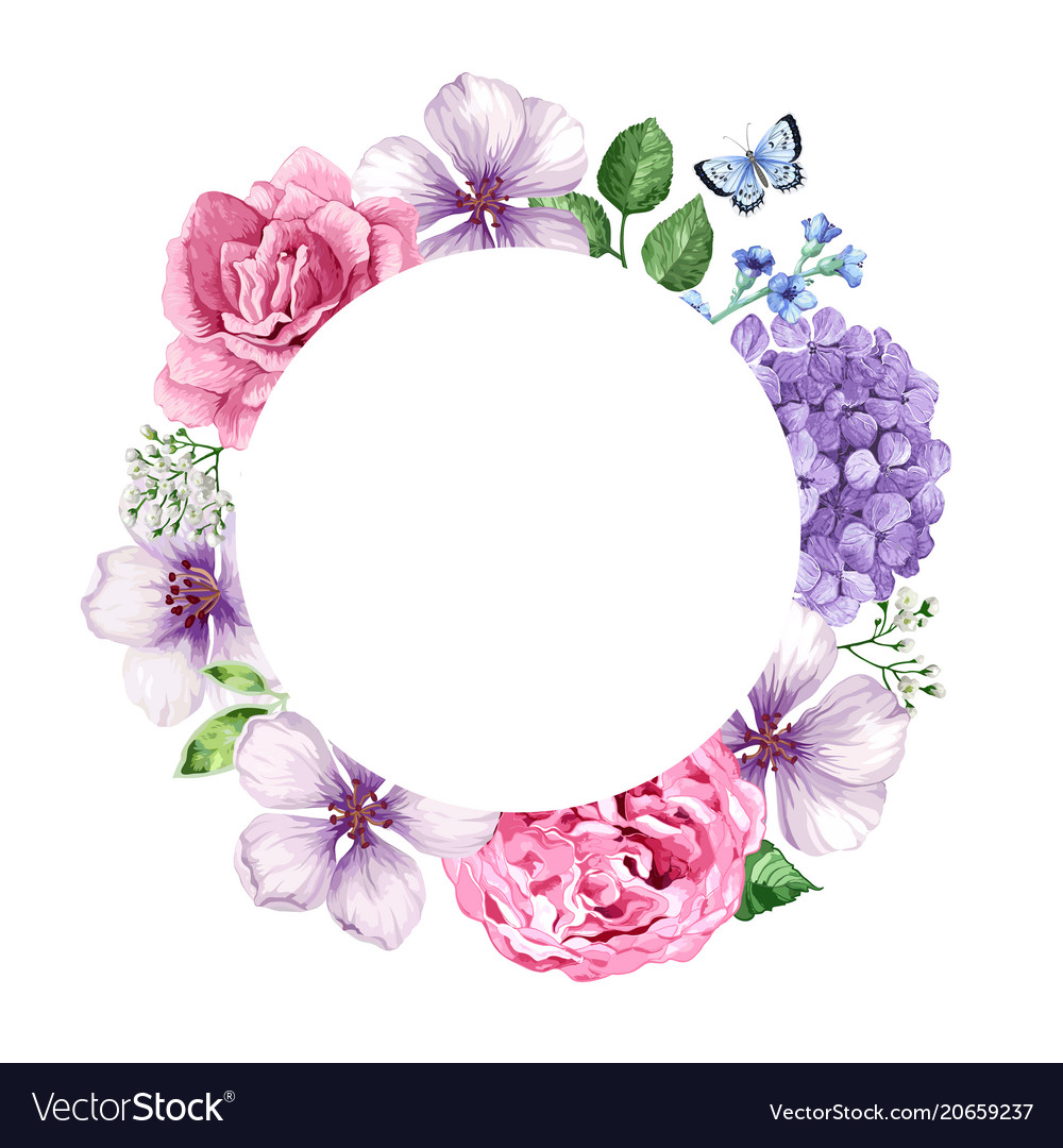 Floral background in watercolor style isolated on vector image