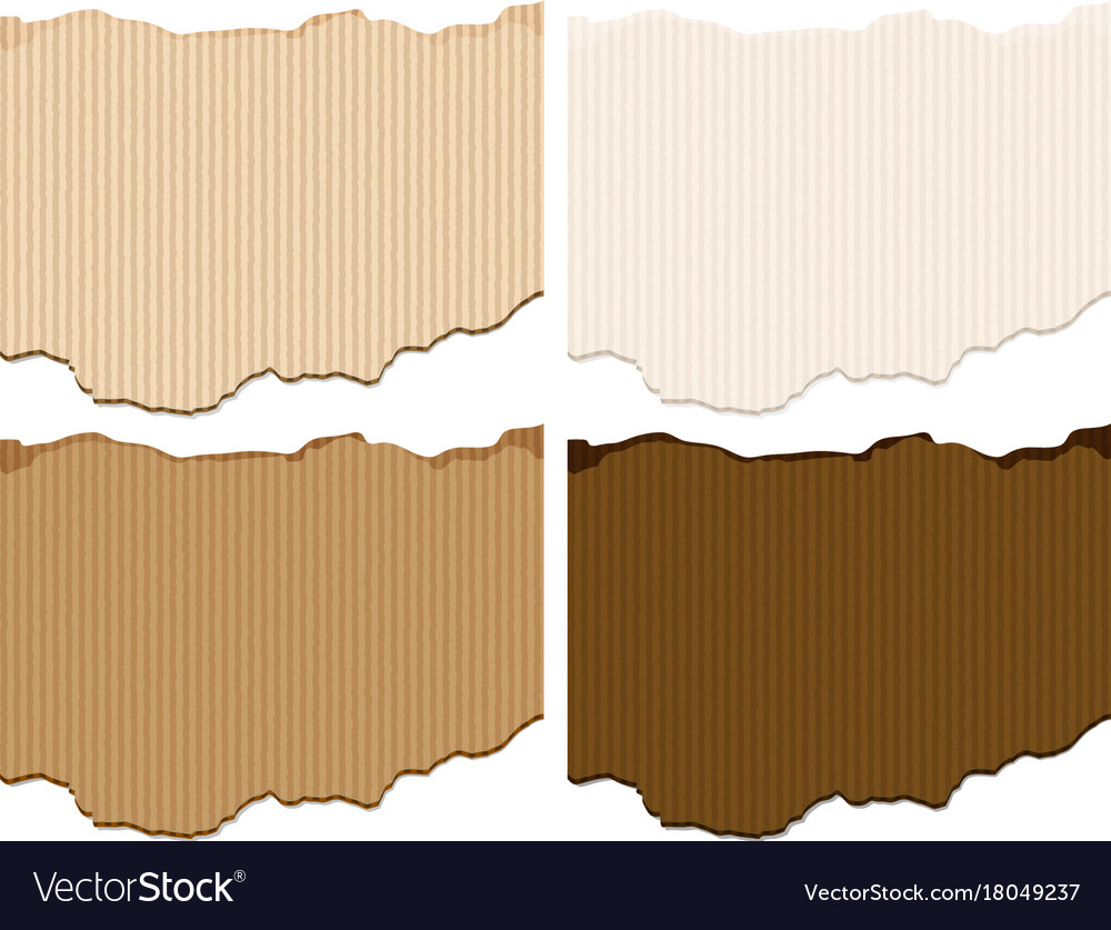 Four Shades Of Brown Cardboard Paper Templates Vector Image