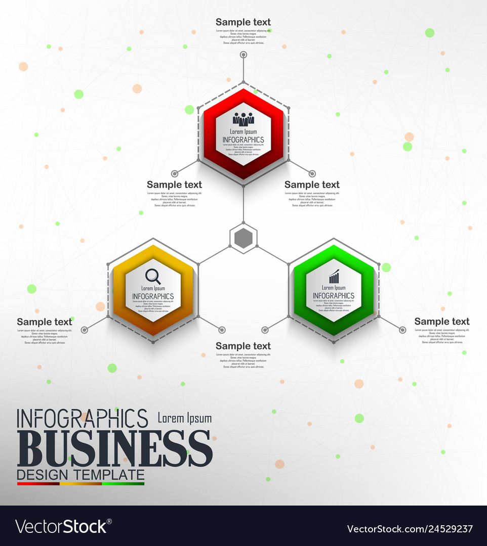 Infographics business template concept with 3 opti