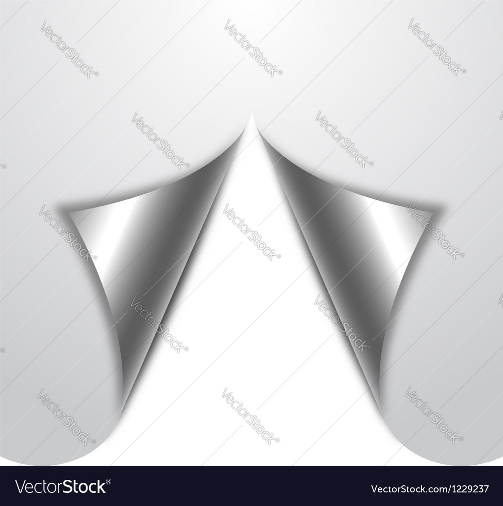 Page curl vector image
