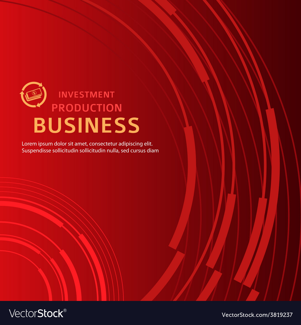 Red background business presentation booklet cover vector image
