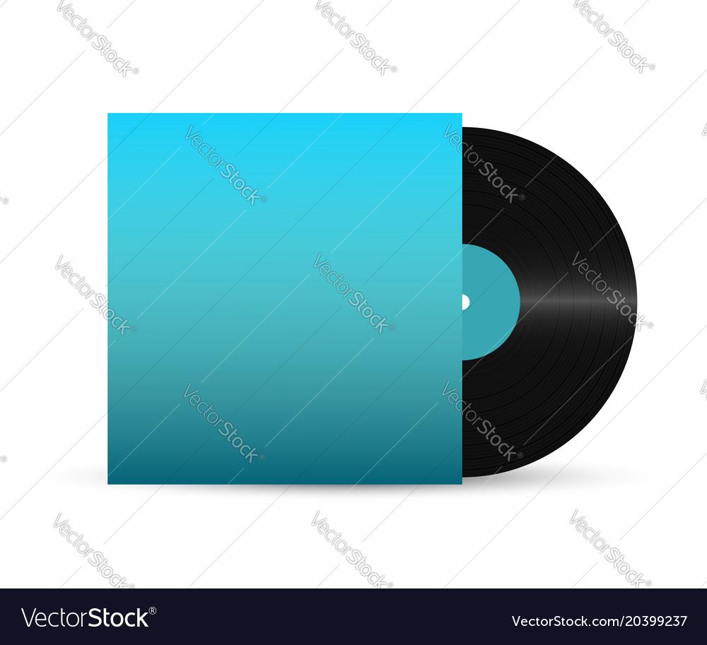 Vinyl record gramophone vinyl record with empty
