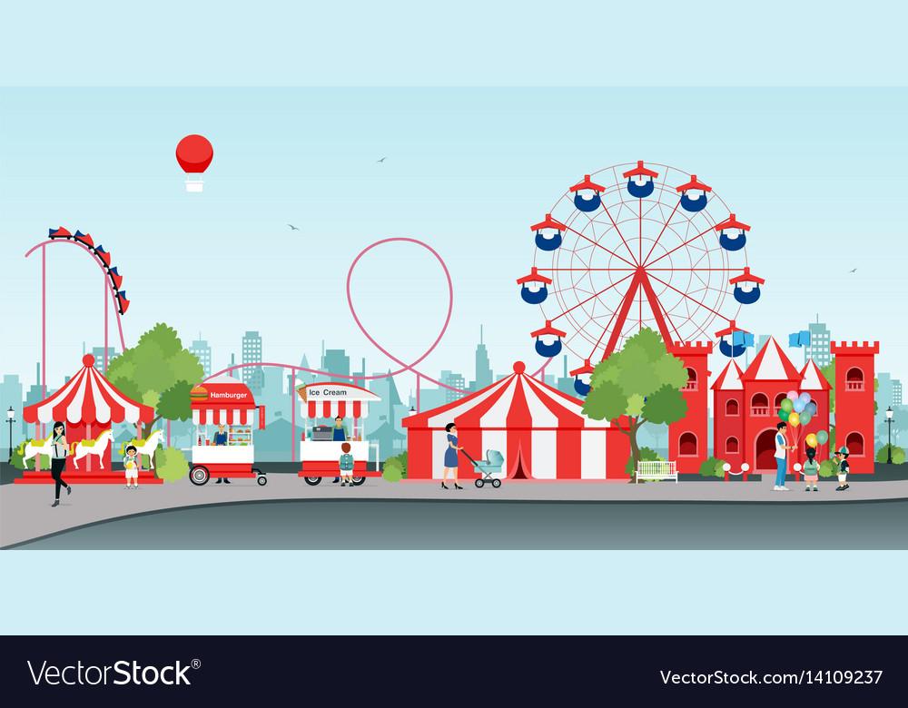Wheel amusement parks