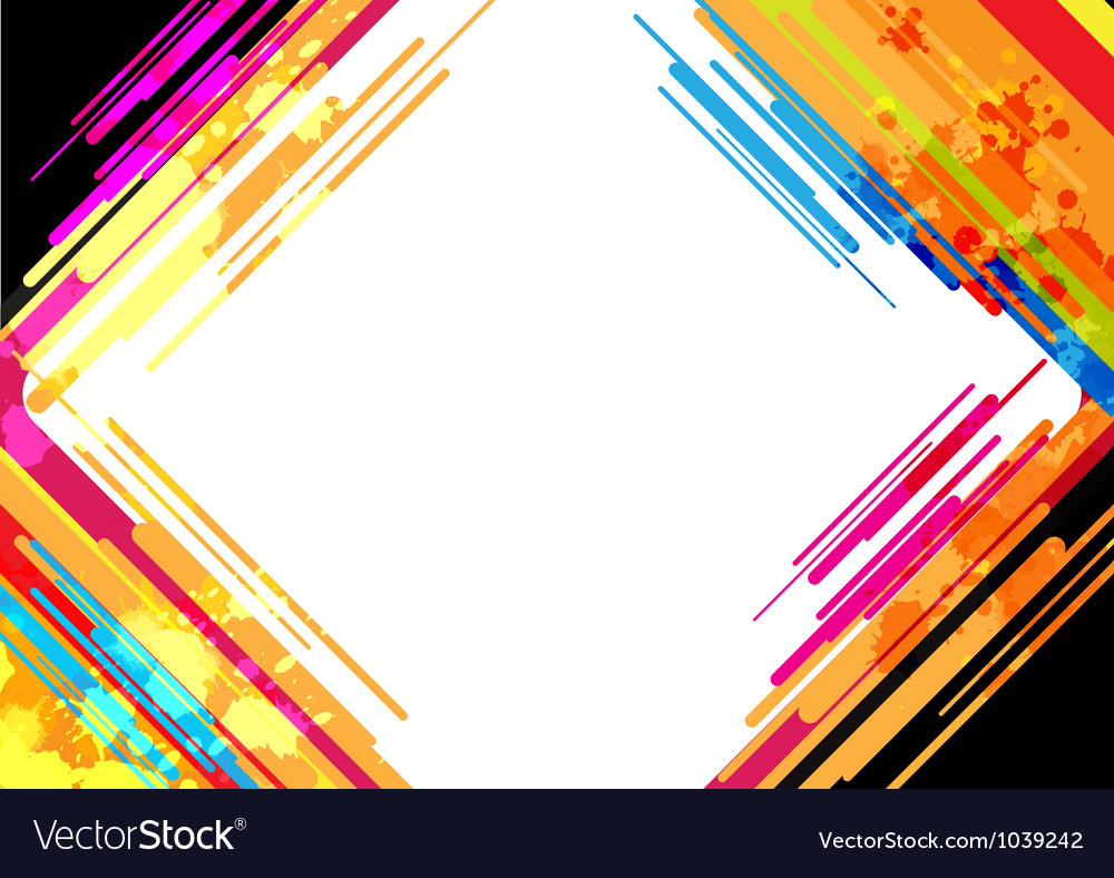 Abstract colorful frame design