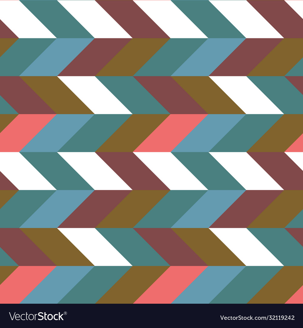 Abstract retro colorful parallelogram seamless