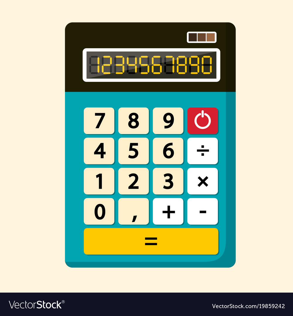 Calculator flat design icon