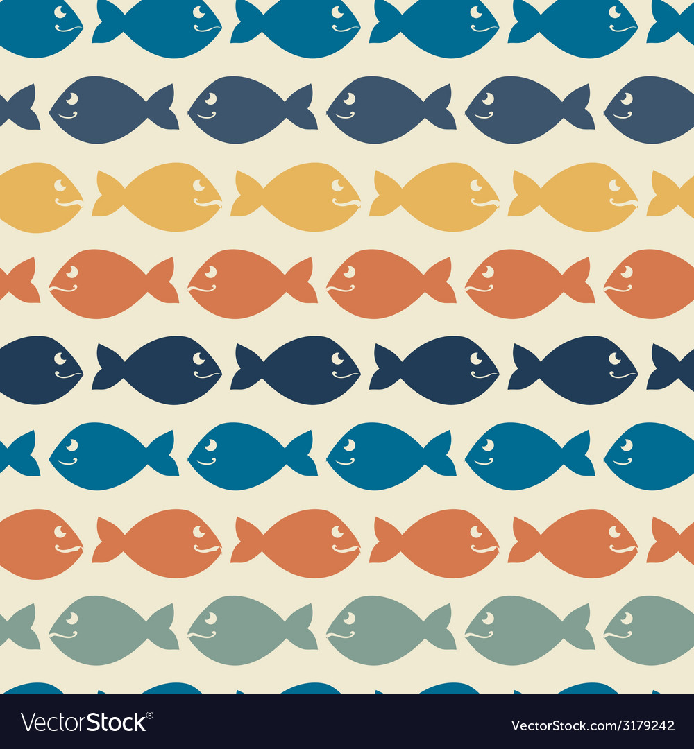 Color abstract fish patternBackgroundVintage
