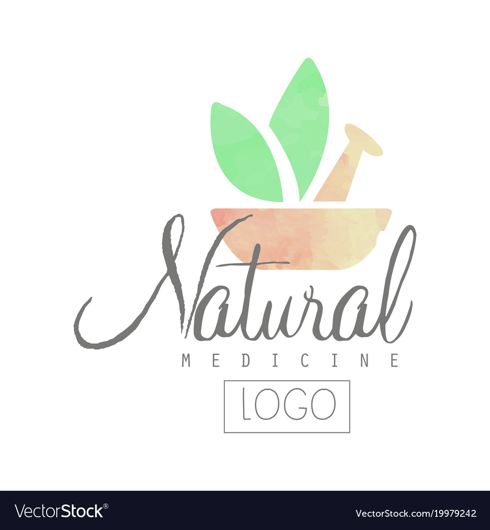 Creative Watercolor Logo With Pestle Mortar And