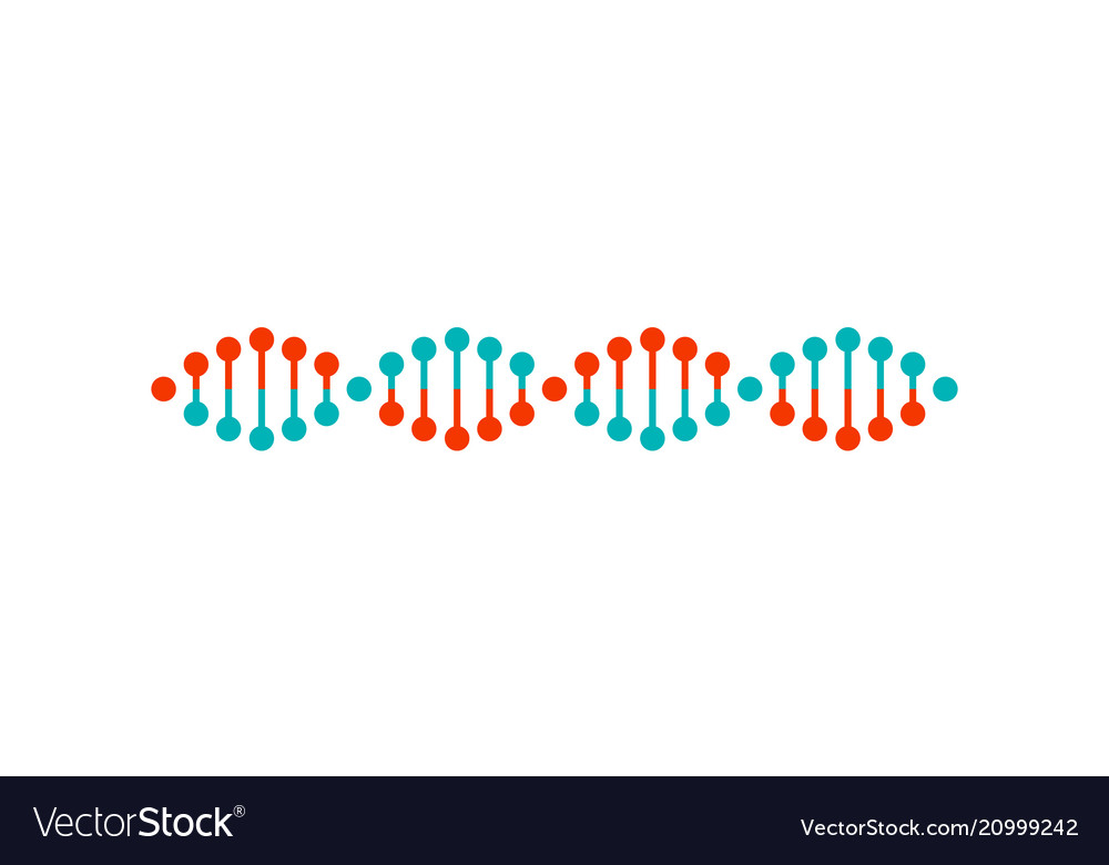 Dna structure colorful poster