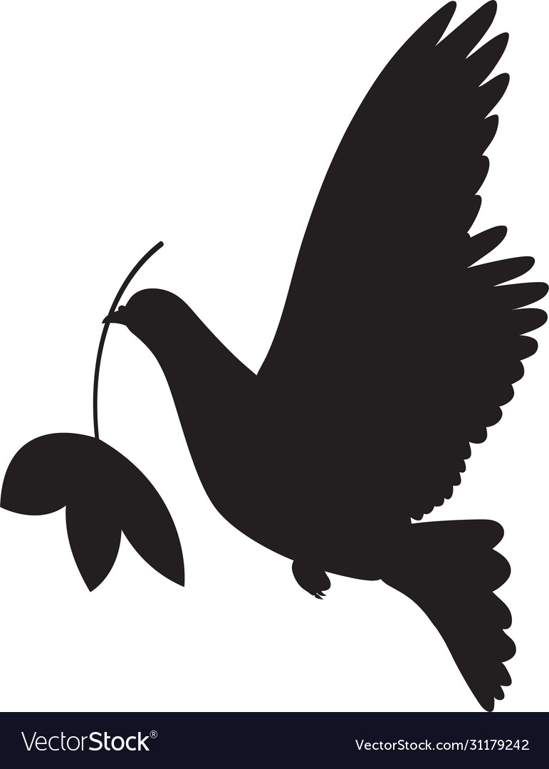Dove peace simple icon flying dove peace
