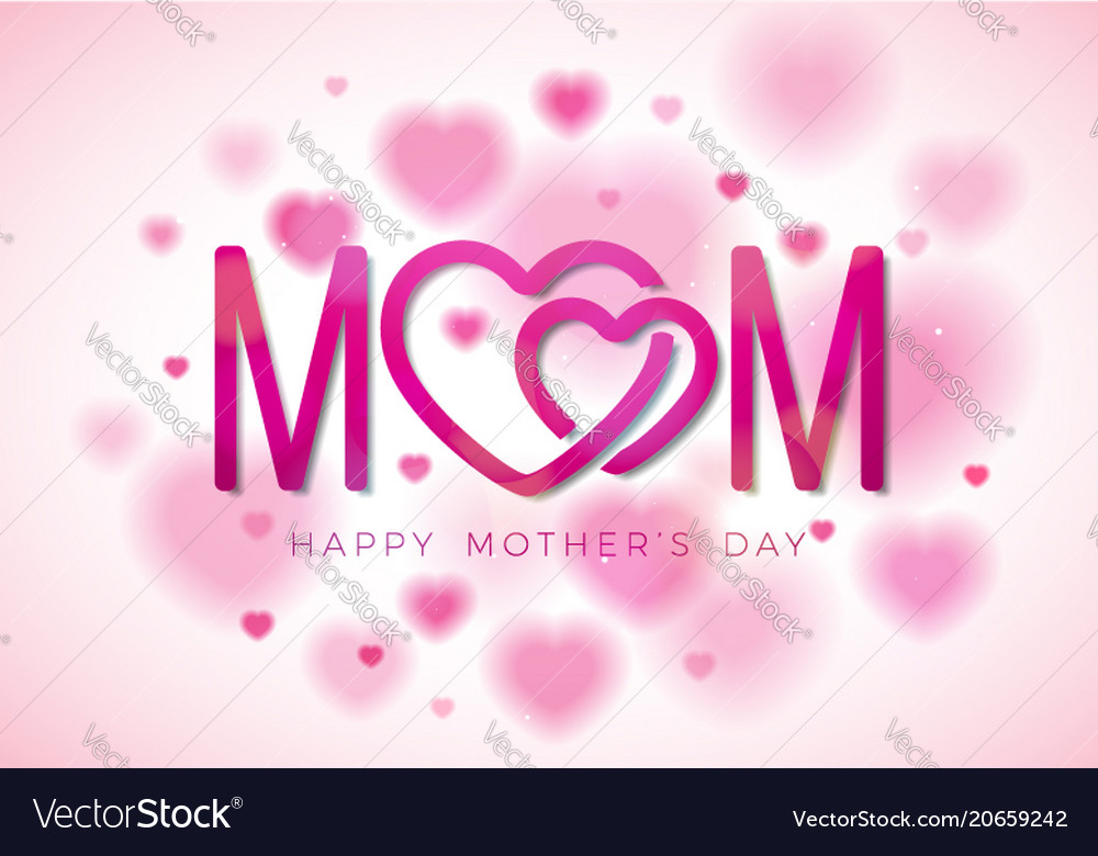 Happy mothers day greeting card with royalty free vector happy mothers day greeting card with vector image m4hsunfo