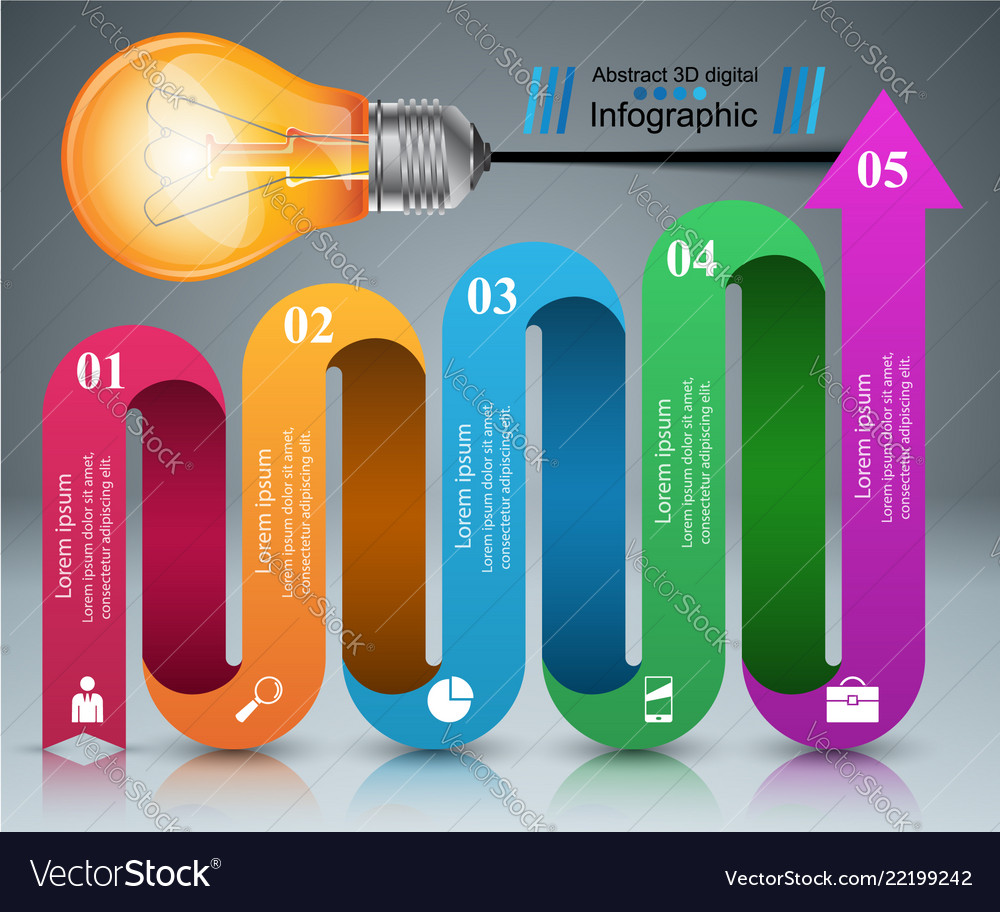 Infographic design bulb light icon