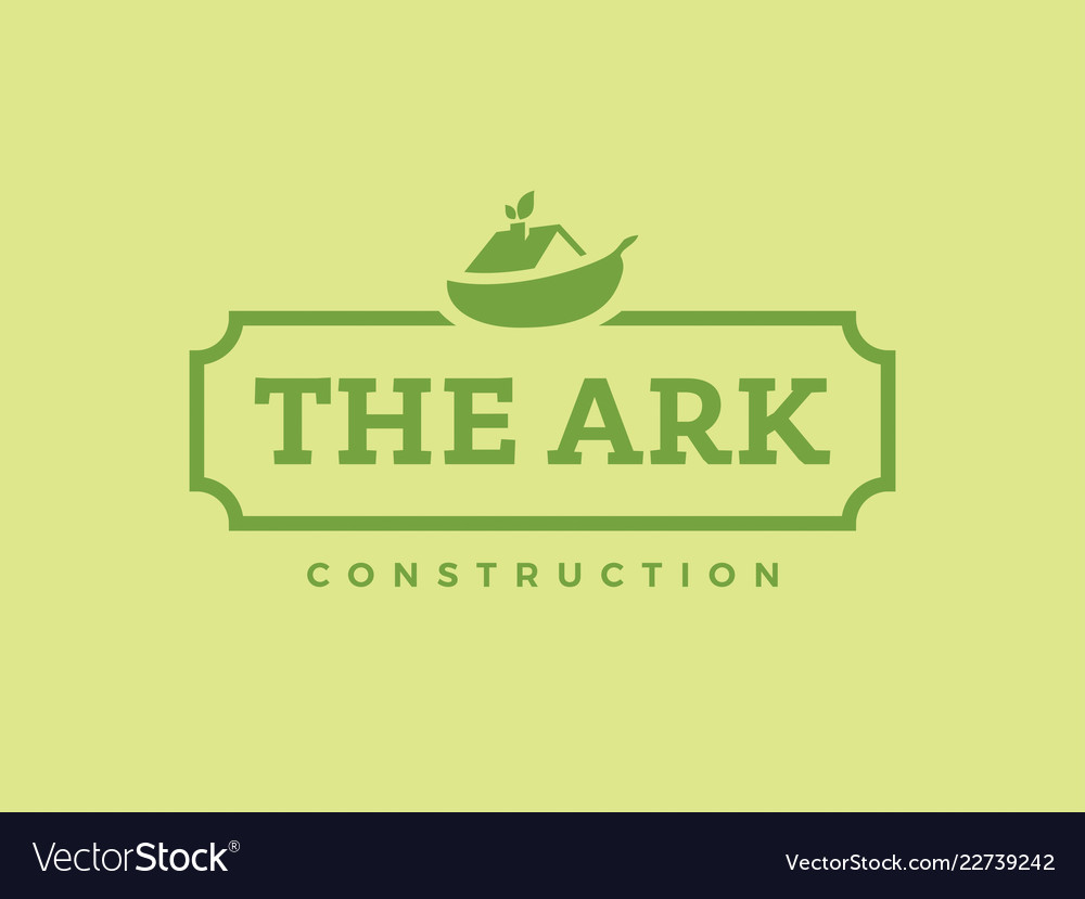 Modern professional logo the ark construction on