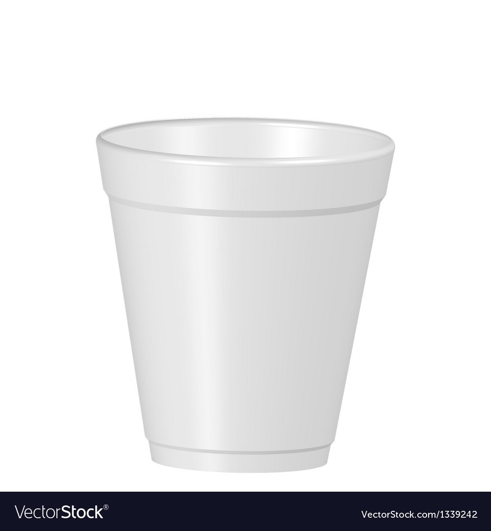 Plastic coffe cup vector image