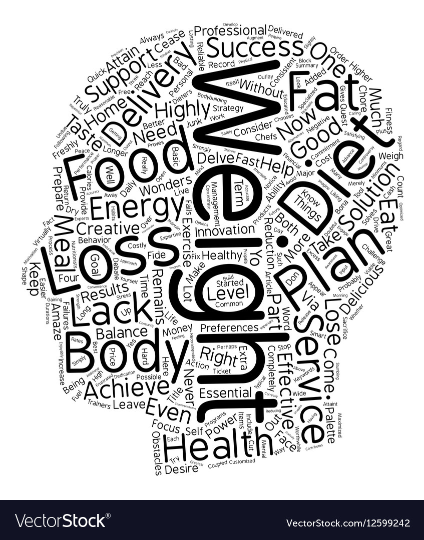 Weight Loss Diet Plan Health Food Delivery Vector Image