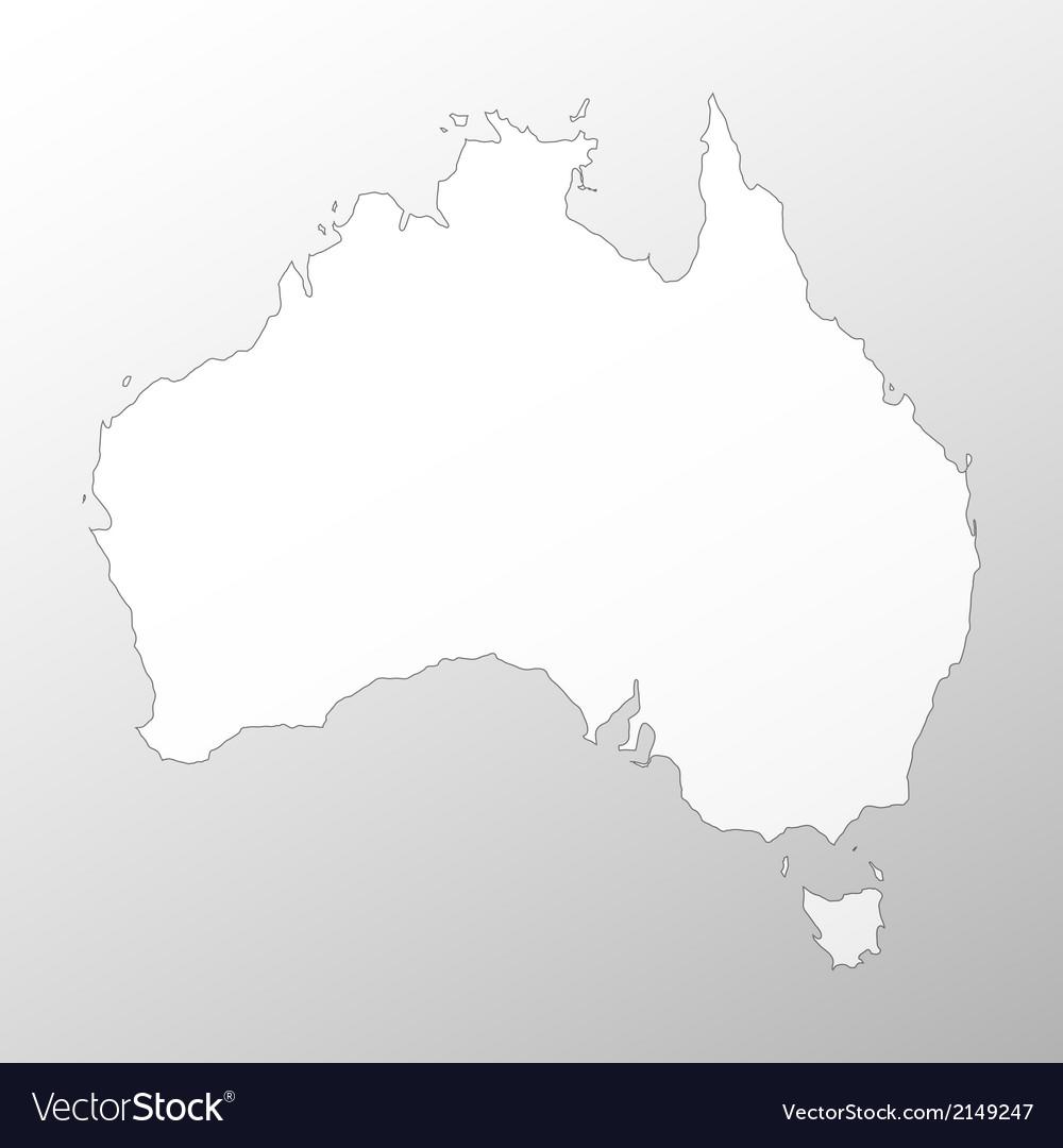 Australia Map Grey.Australia Map Background Royalty Free Vector Image