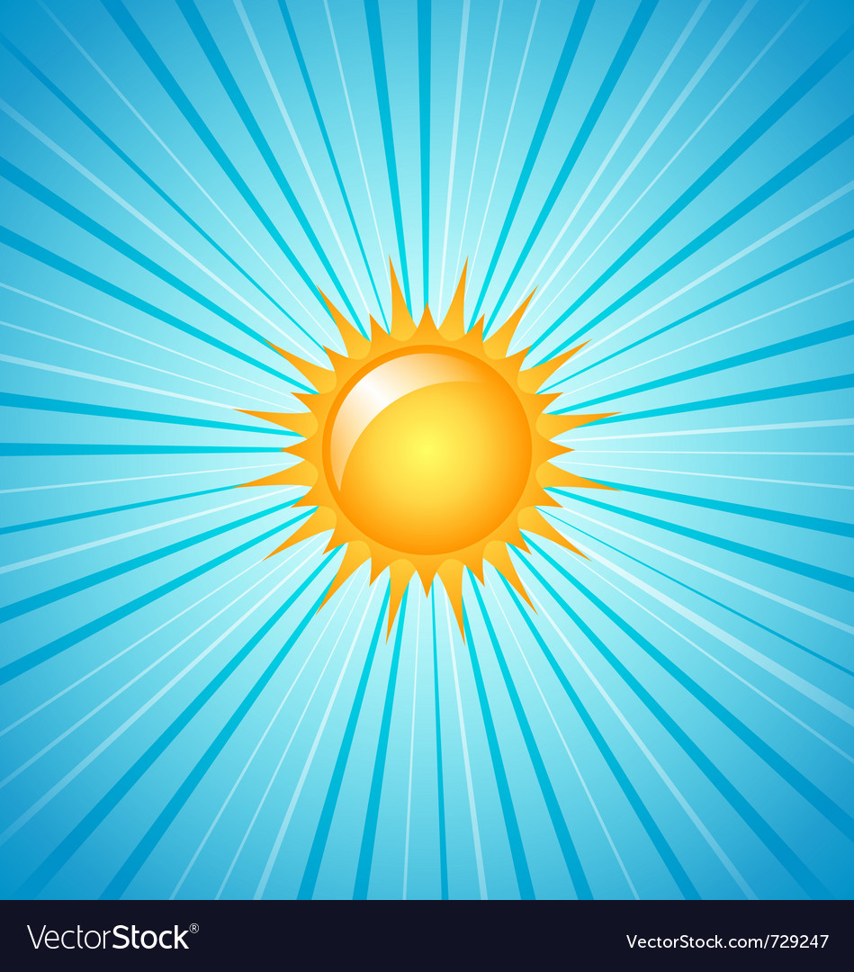 Big shining summer sun vector image