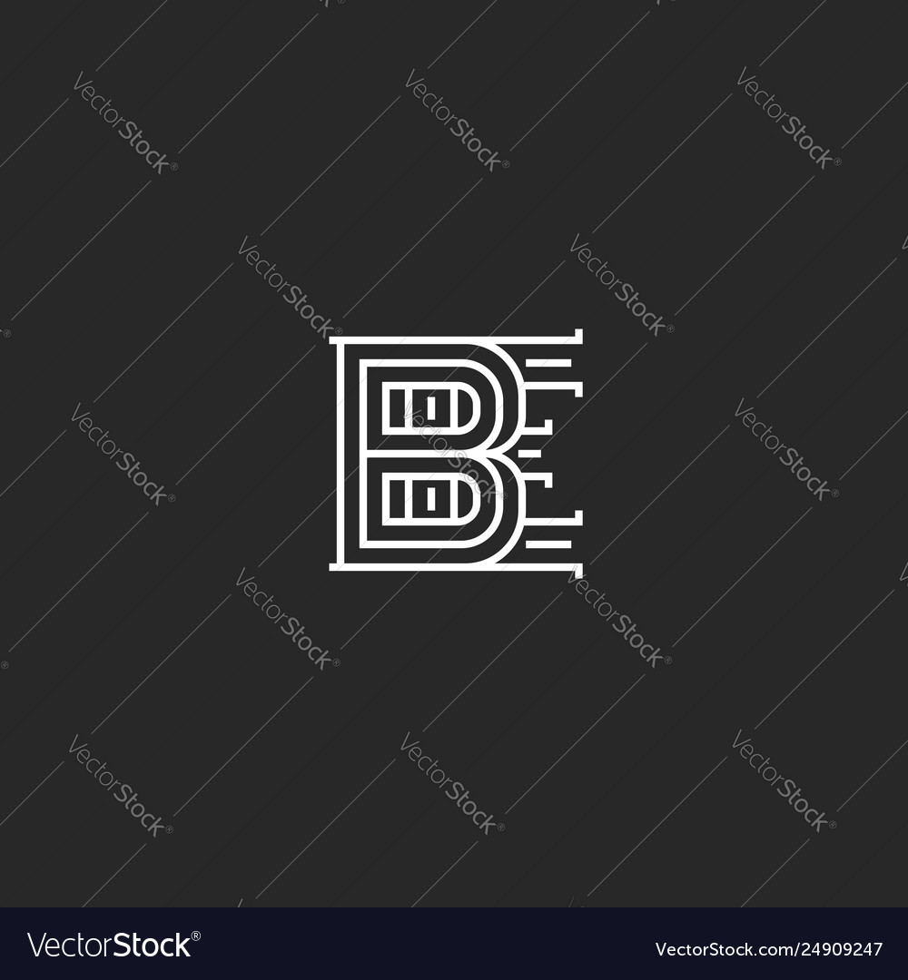 Creative initials be logo monogram overlapping