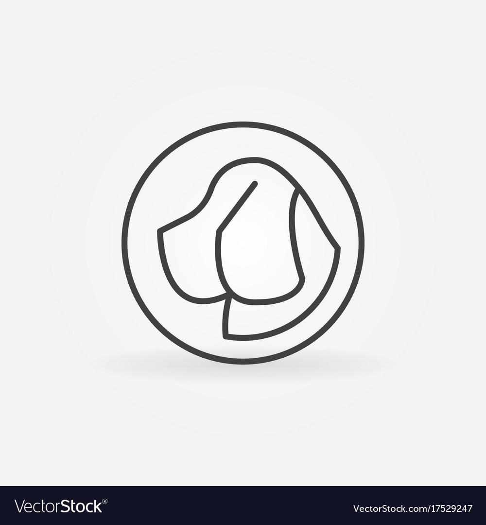 Dog head in circle icon