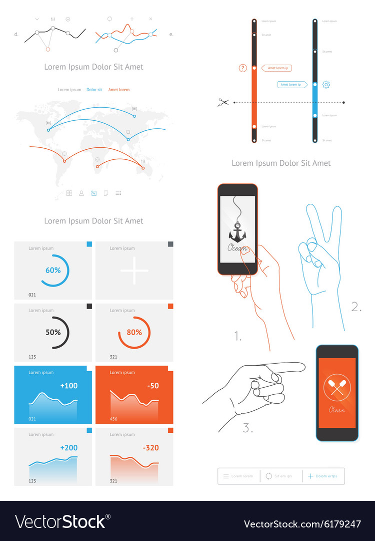 Elements infographics and user interface