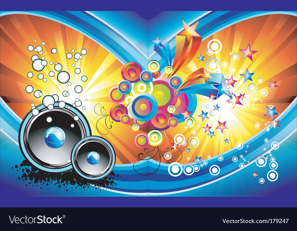 music background vector. Fantasy Music Background