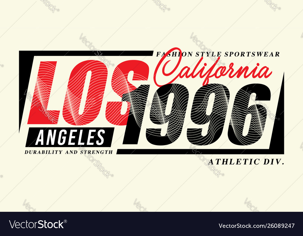 La california 1996 sport typography t-shirt