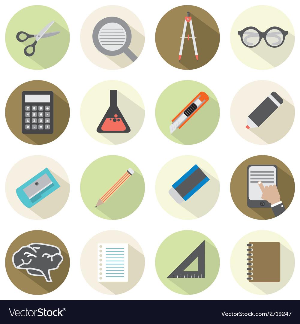 Modern Flat Design Education Icons