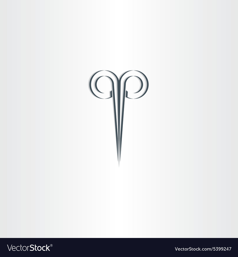 Scissors hair salon stylized black logo vector image