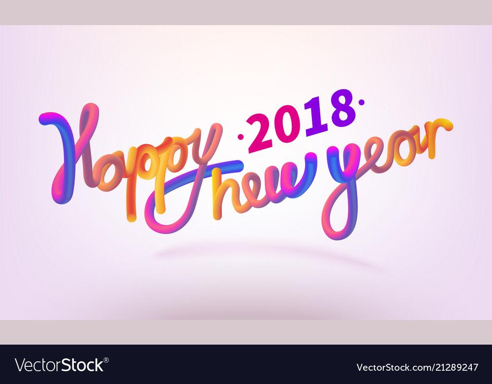 Stock happy new year font