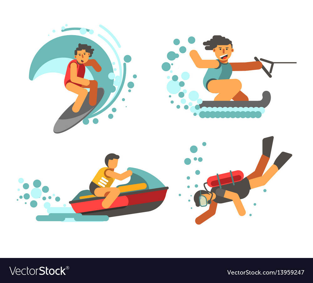 Summer water healthy activities poster on