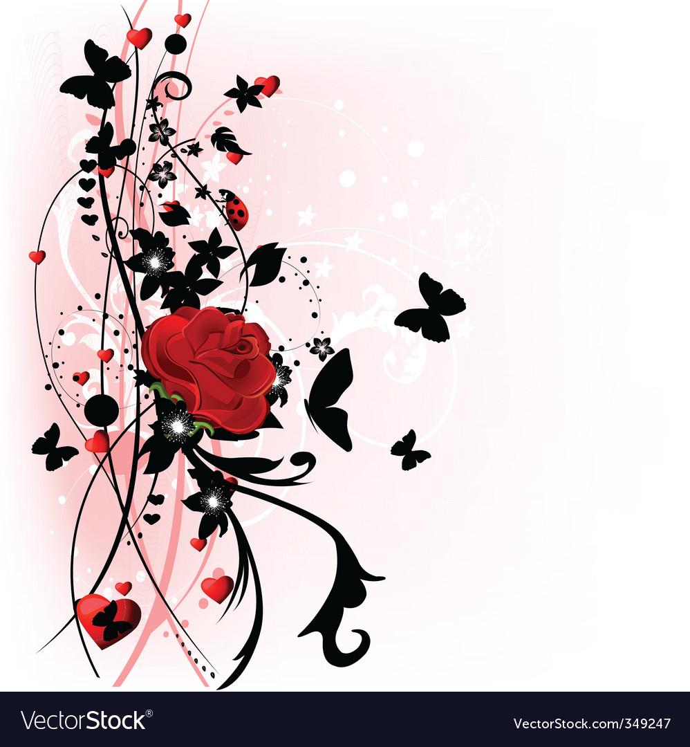 Valentine day rose vector image