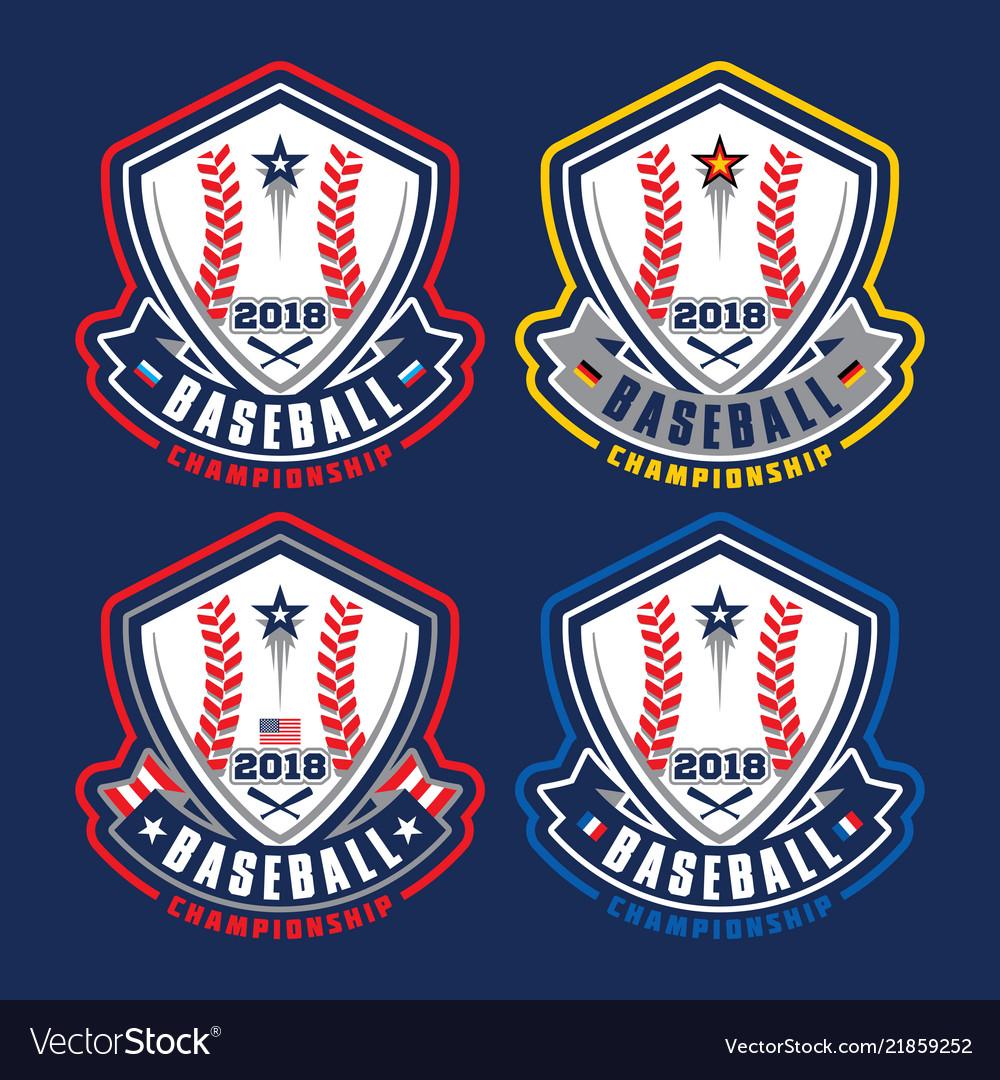 Baseball championship logotypes