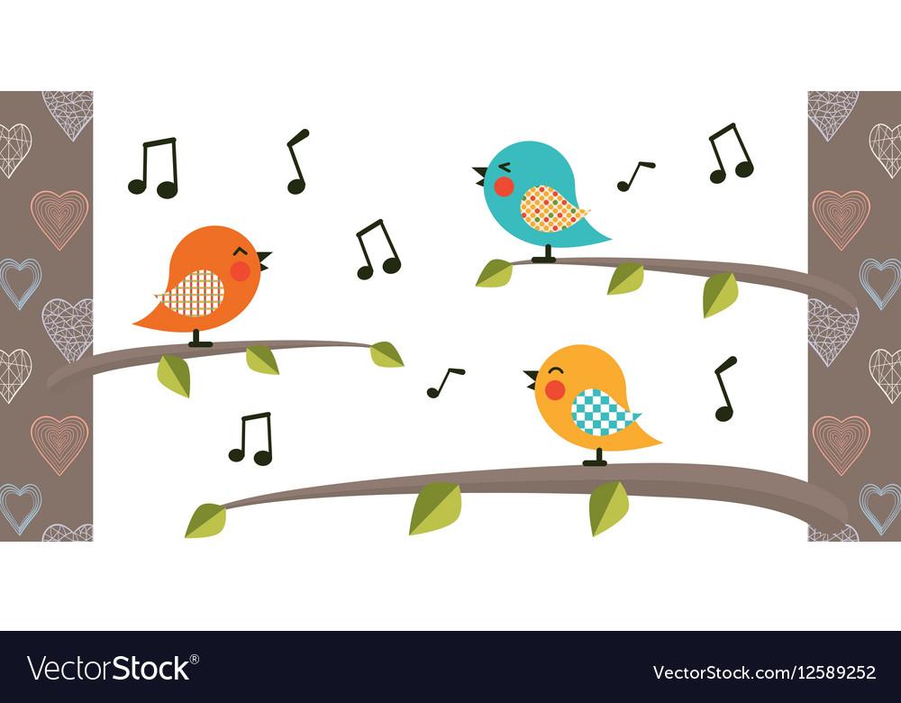Bird cartoon character vector image