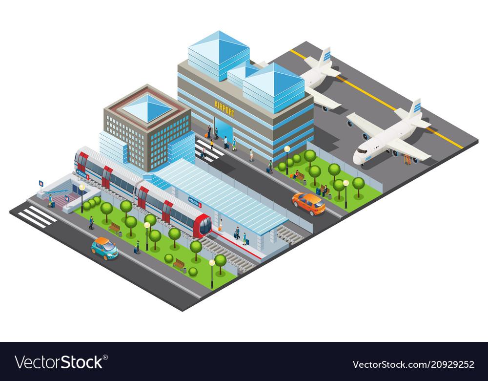 Isometric public transport template