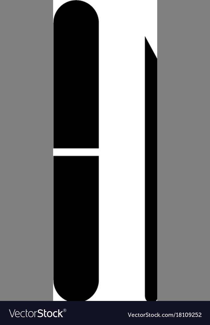 Manicure file icon black vector image