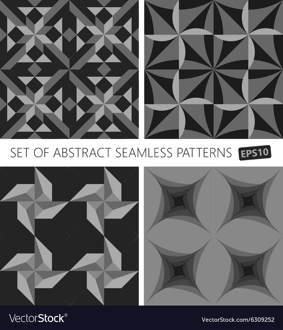 Set of abstract seamless pattern EPS10