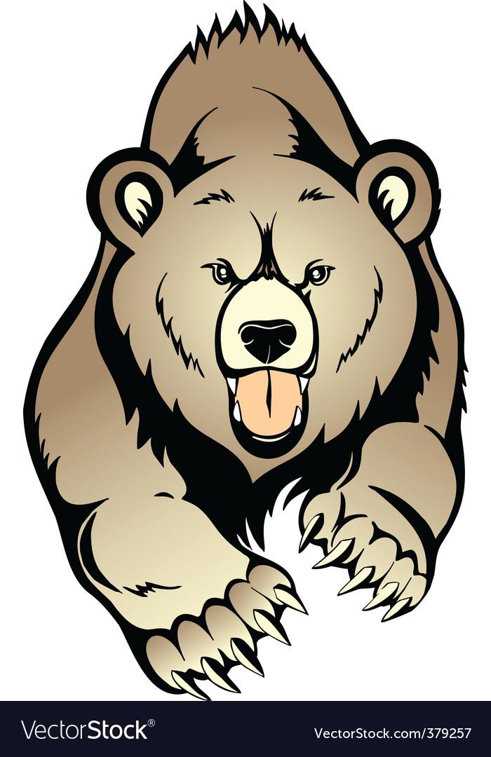 grizzly bear royalty free vector image vectorstock rh vectorstock com bear factory outlet beer vector free