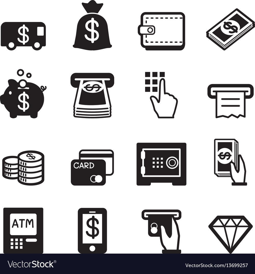 Money finance banking credit card icons