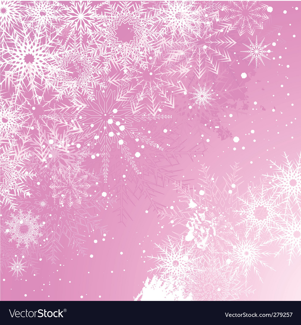 pink snowflake background royalty free vector image