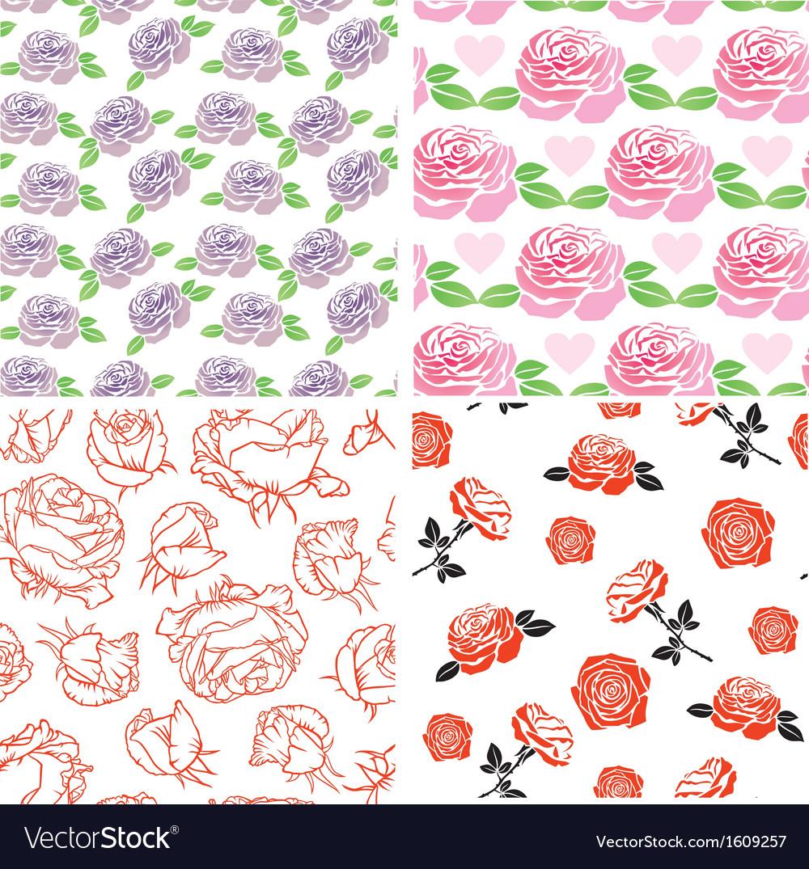 Set rose pattern