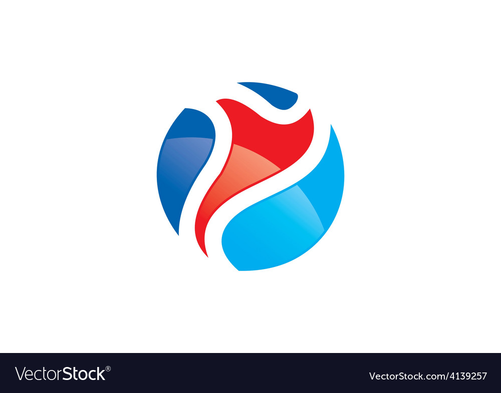 Sport man abstract color logo