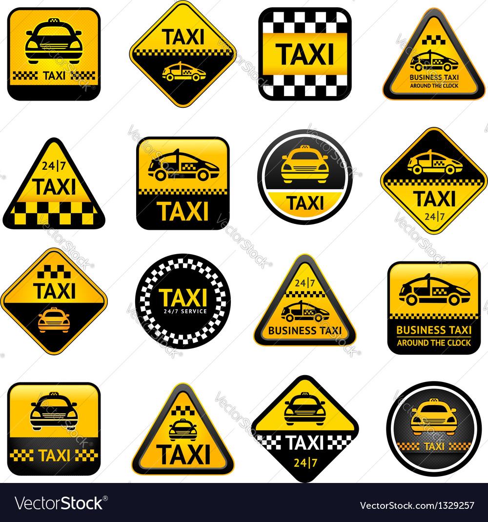 Taxi set buttons